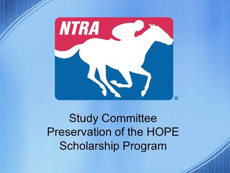 Study Committee Preservation of the HOPE Scholarship Program.