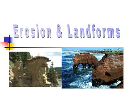 Learning Objectives WA State Standard 6-8 ES2G Students know that… Landforms are created by processes that build up structures and processes that break.