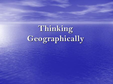 why human geography is important Here are some reasons why a sound understanding of geography is more important today than ever beforepolit why is geography important.