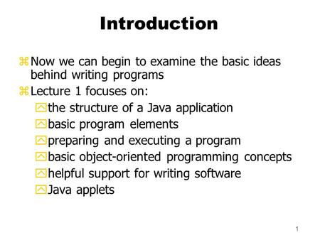 writing apps in java