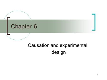 1 Chapter 6 Causation and experimental design. 2 Identifying causes—figuring out why things happen—is the goal of most social science research. Unfortunately,