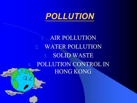 POLLUTION CONTROL IN HONG KONG