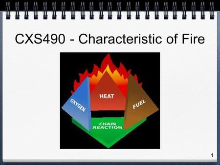1 CXS490 - Characteristic of Fire. 2 Other Resources NFPA Standards (available through Seneca Libraries Link NFPA Handbook Manufacturer's Technical Information.