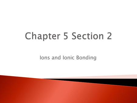 Ions and Ionic Bonding. Atoms that lose their valence electrons to another atom, the valence electrons are transferred from one atom to another. This.