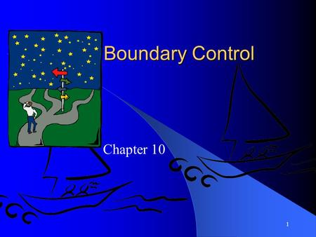1 Boundary Control Chapter 10. 2 Materi: Boundary controls:  Cryptographic controls  Access controls  Personal identification numbers  Digital signatures.