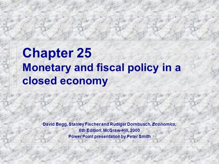 Economic monetary policy and read ch