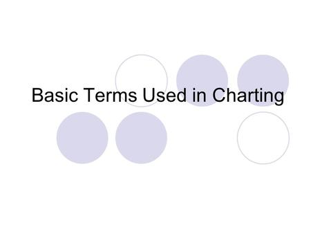 Basic Terms Used in Charting