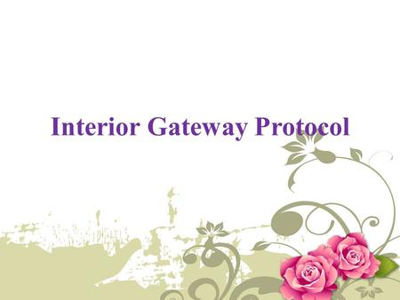 Interior Gateway Protocol. Introduction An IGP (Interior Gateway Protocol) is a protocol for exchanging routing information between gateways (hosts with.