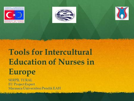 Tools for Intercultural Education of Nurses in Europe SERPİL TURAL EU Project Expert Marmara Üniversitesi Pendik EAH.
