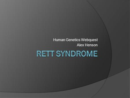 rett syndrome a rare incurable disorder essay
