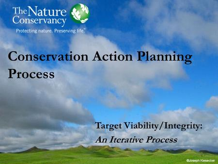 Conservation Action Planning Process Target Viability/Integrity: An Iterative Process.