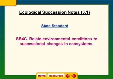 Ecological Succession Notes (3.1)