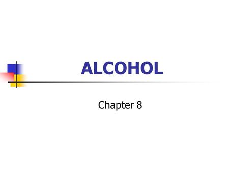 ALCOHOL Chapter 8. PRODUCTION OF ALCOHOL Anaerobic condition CO 2 Glucose Pyruvate Acetaldehyde Fermentation of yeast Fermentation of yeast.