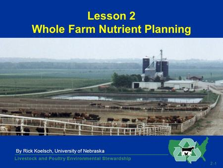 2 -1 Lesson 2 Whole Farm Nutrient Planning By Rick Koelsch, University of Nebraska.