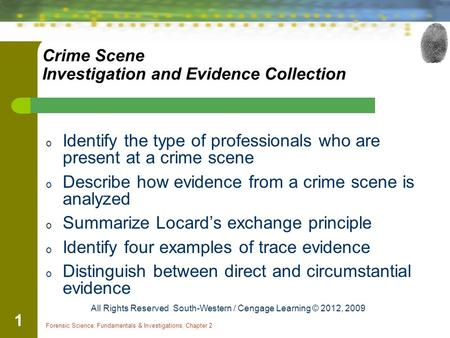 an analysis of crime scene processing and investigating