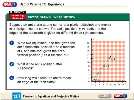 Using Parametric Equations