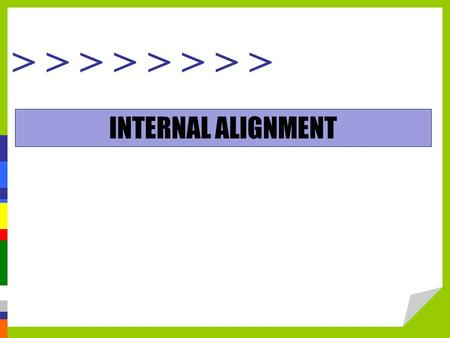 > > > > INTERNAL ALIGNMENT. Compensation Strategy: Internal Consistency.