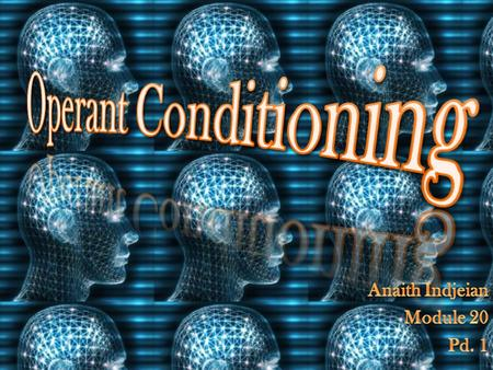 Components of Operant Conditioning Reinforcement Punishment.
