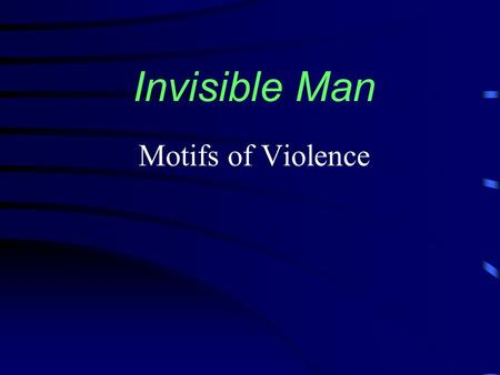 write essay invisible man