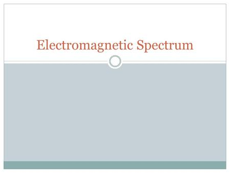 Electromagnetic Spectrum. Wave - Review Waves are oscillations that transport energy. 2 Types of waves:  Mechanical – waves that require a medium to.