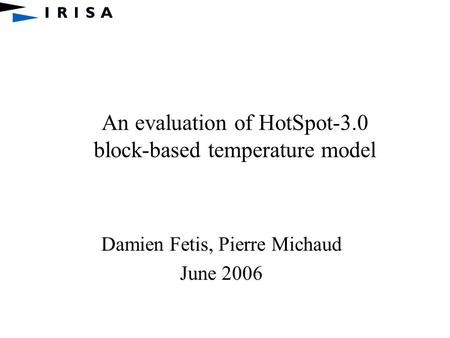 An evaluation of HotSpot-3.0 block-based temperature model
