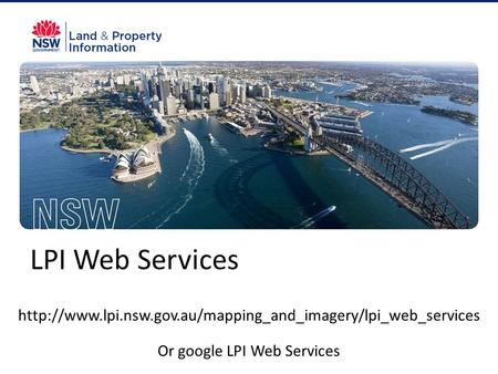 LPI Web Services  Or google LPI Web Services.