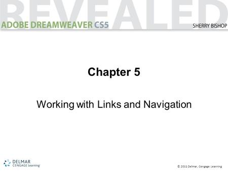 © 2011 Delmar, Cengage Learning Chapter 5 Working with Links and Navigation.