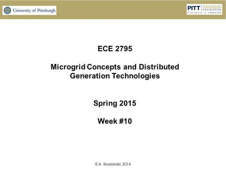 Microgrid Concepts and Distributed Generation Technologies