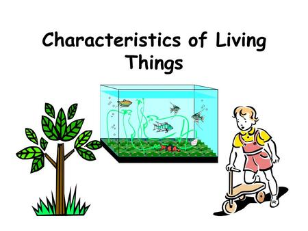 Characteristics of Living Things 1. COMPOSED OF CELLS 1. COMPOSED OF CELLS All living things are made up of at least one cell Cell –  Basic or smallest.