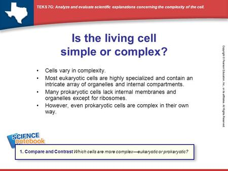 Is the living cell simple or complex?