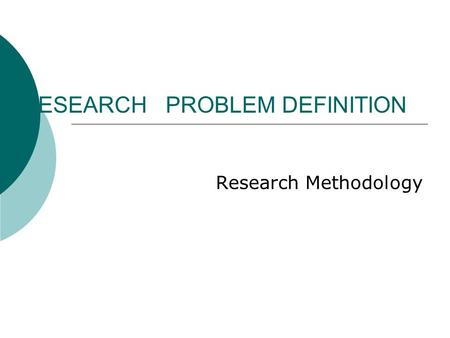 research methodology definitions