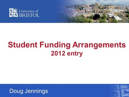 Doug Jennings Student Funding Arrangements 2012 entry.