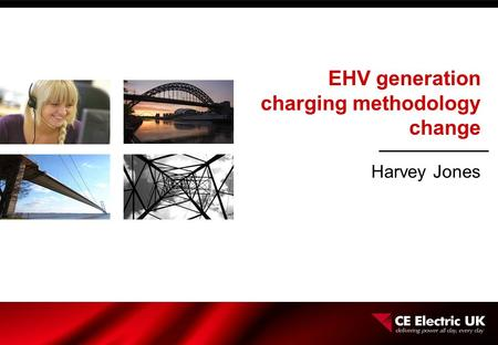 EHV generation charging methodology change Harvey Jones.