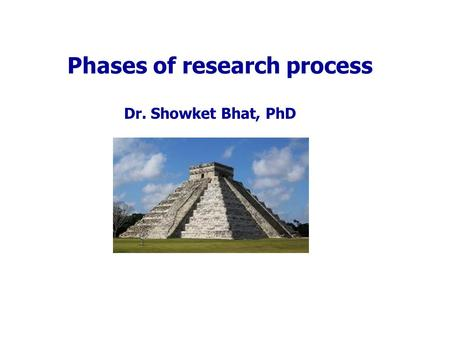 Phases of research process