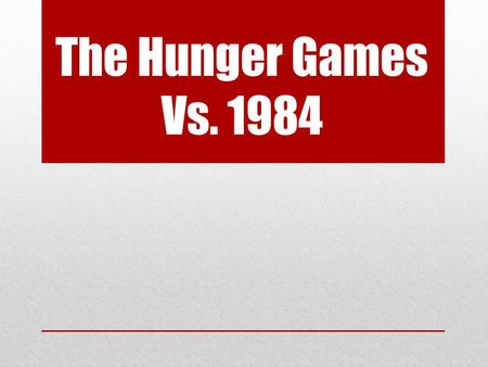 "The Hunger Games Vs. 1984. Social Hierarchy Hunger Games "" Taking kids from our districts, forcing them to kill one another while we watch- this is the."