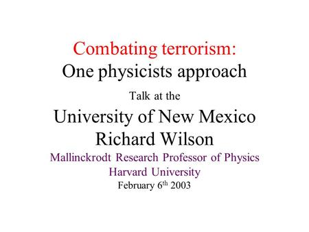 approaches to combating terrorism Dark networks, counter-terrorism, counter-insurgency, strategy  of the two  generic approaches to combating terrorism, the kinetic approach.