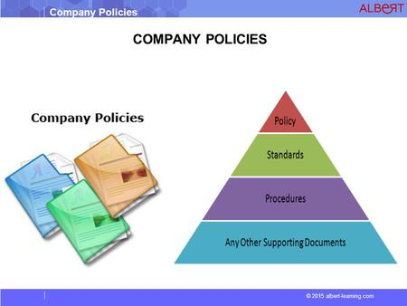 © 2015 albert-learning.com Company Policies COMPANY POLICIES.