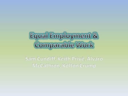 Equal employment is one of the basic principles of business management. Opportunities must be constant for minorities as well as majorities. Many times,