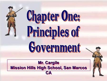 Mr. Cargile Mission Hills High School, San Marcos CA Mr. Cargile Mission Hills High School, San Marcos CA.