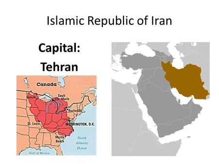 Islamic Republic of Iran Capital: Tehran. Comparing Iran Only Theocracy we study. – Government ruled by religion. Sharia Law – Northern Nigeria Rentier.