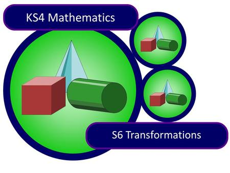 1 of 66 KS4 Mathematics S6 Transformations. 2 of 66 A A A A A A Contents S6.1 Symmetry S6 Transformations S6.2 Reflection S6.3 Rotation S6.4 Translation.