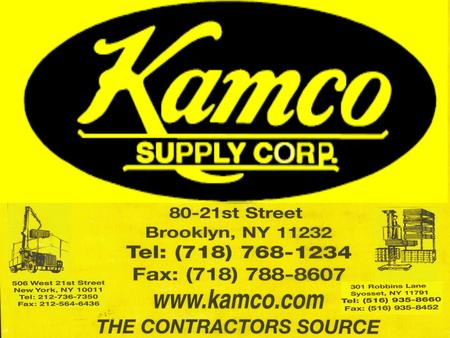 Kamco Supply Corp established 1939. Daily Service To Staten Island We specialize in Acoustical Ceiling Systems, Light Gauge Steel Framing, Drywall, Lumber,