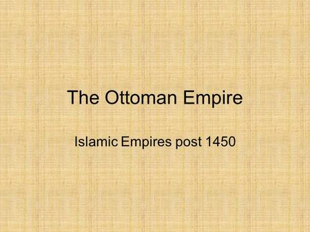 three islamic empires