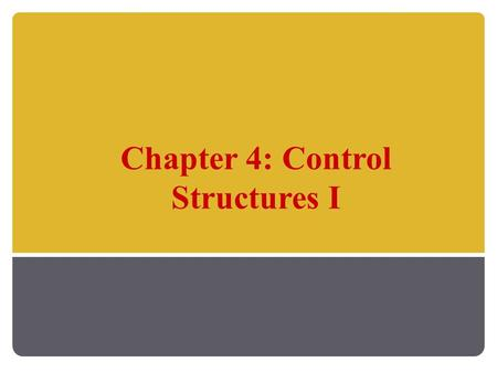 Chapter 4: Control Structures I. Java Programming: From Problem Analysis to Program Design, D.S. Malik 2 Chapter Objectives Learn how to use the selection.
