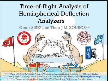 Time-of-flight Analysis of Hemispherical Deflection Analyzers Omer SISE 1 and Theo J.M. ZOUROS 2,3 1 Dept. of Science Education, Faculty of Education,