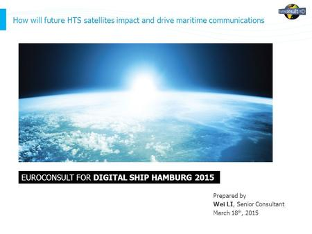 EUROCONSULT FOR digital ship Hamburg 2015