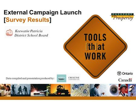 External Campaign Launch [Survey Results] Data compiled and presentation produced by: