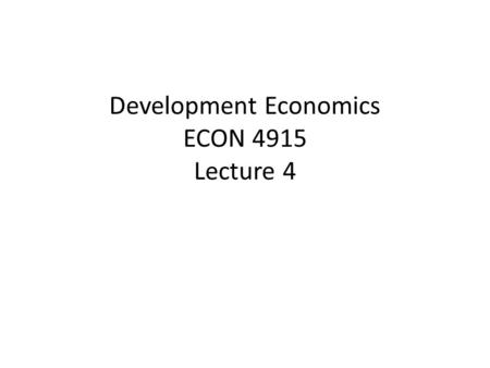 Development Economics ECON 4915 Lecture 4. Outline Seminar 3 Discussion on group lending Possible exam question Insurance  The problem of risk.  Why.