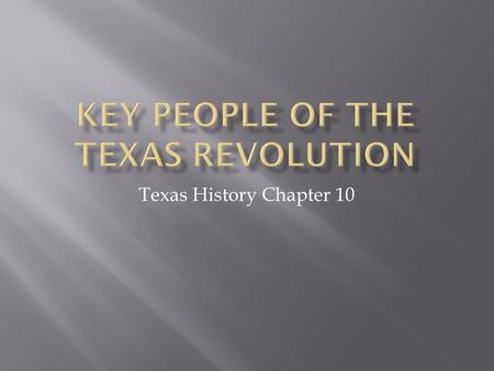 Texas History Chapter 10.  Commander of the regular and volunteer army  Sent someone to check that San Antonio was worth keeping.