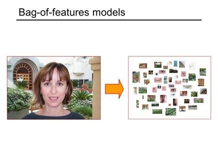 Bag-of-features models. Origin 1: Texture recognition Texture is characterized by the repetition of basic elements or textons For stochastic textures,